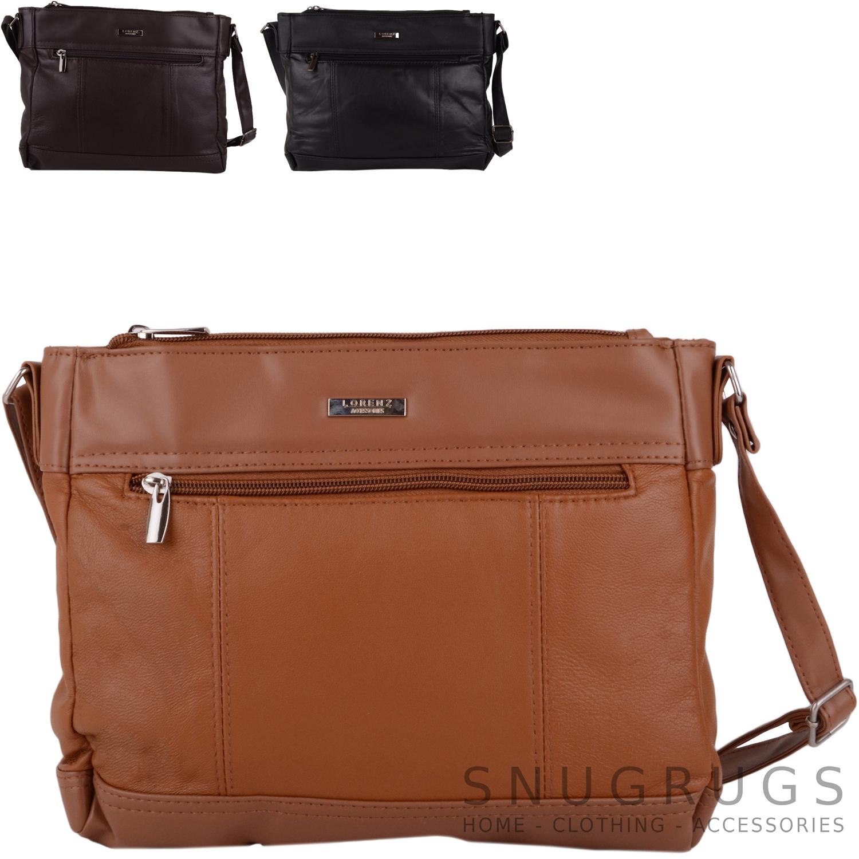 Details about Ladies   Womens Soft Leather Handbag   Shoulder   Organiser    Cross Body Bag 8cc9c25eaeb37