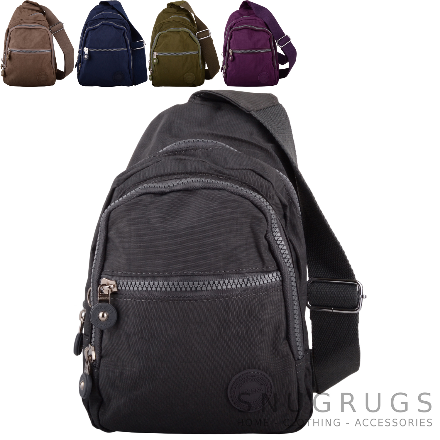 9e9b51c4bf9 Details about Mens   Womens Small Nylon Backpack   Ruck Sack   Shoulder Bag