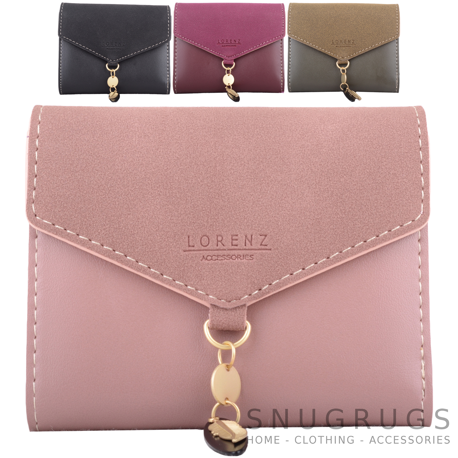 Coin Credit Card Purse Holder Womens Faux Leather Tri-Fold Money Ladies
