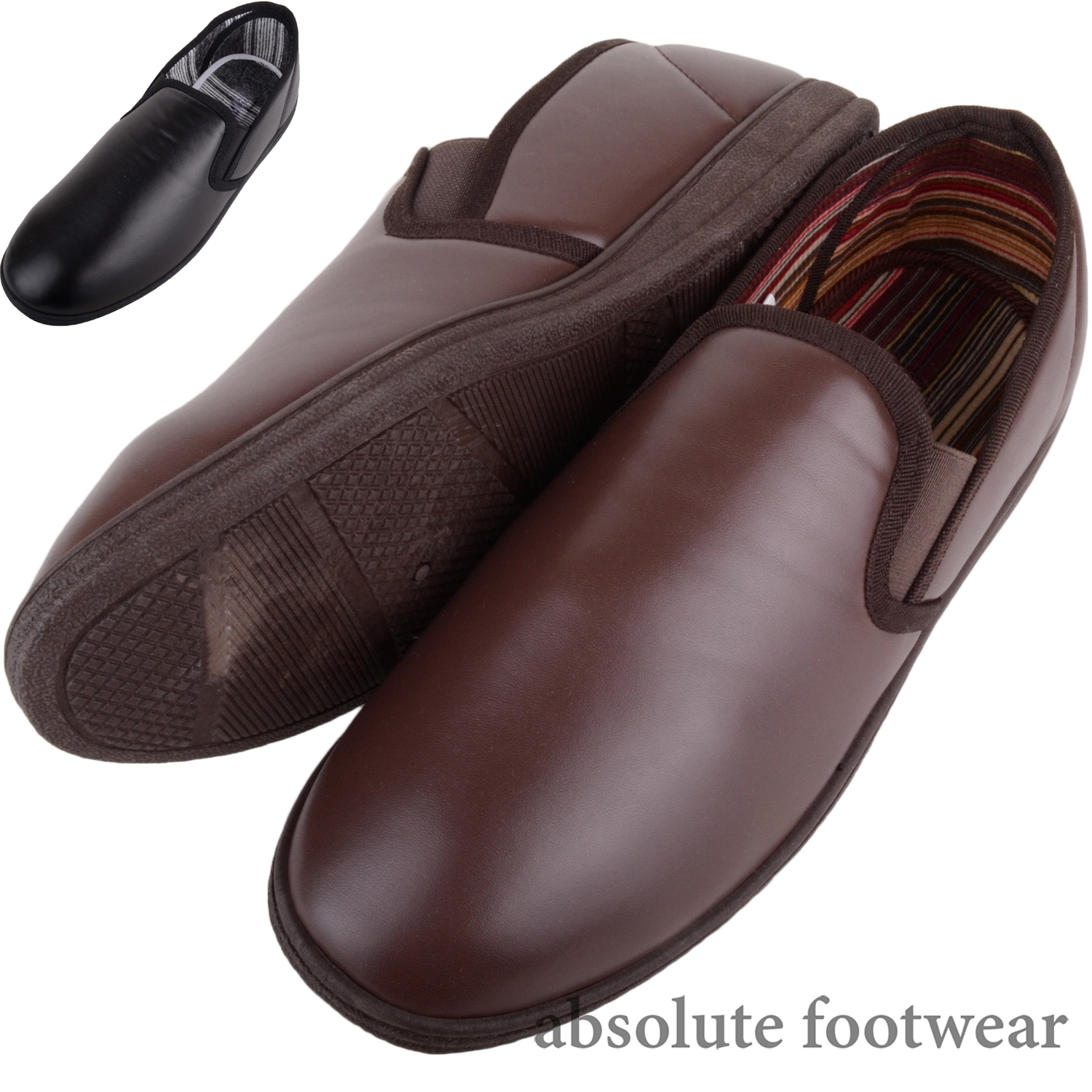 Mens Dr Lightfoot Cord Slip On Slippers Indoor Shoes with Memory Foam Insole