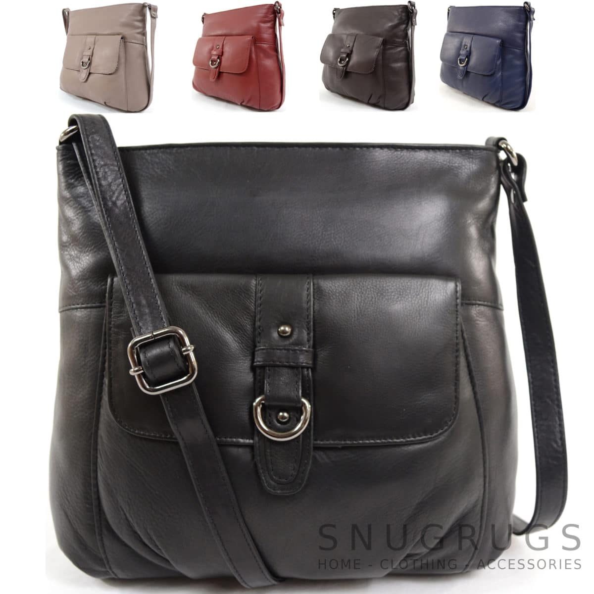 Jackie – Soft Leather Shoulder / Cross Body Bag