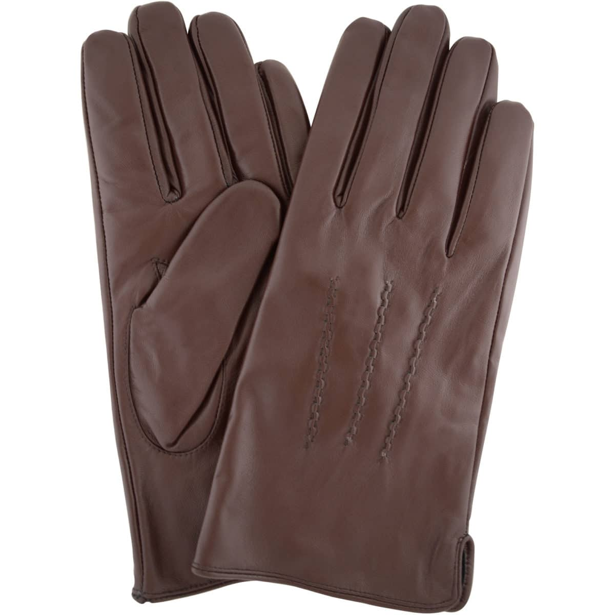 leather gloves with three point stitch brown snugrugs