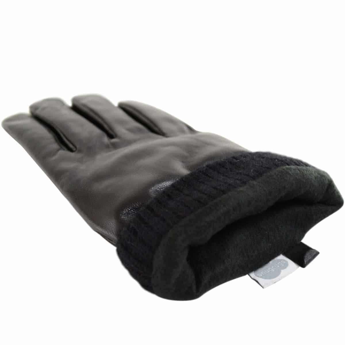 Leather Biker Stud Gloves – Black