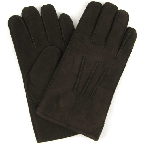 Full Sheepskin Gloves - Coffee