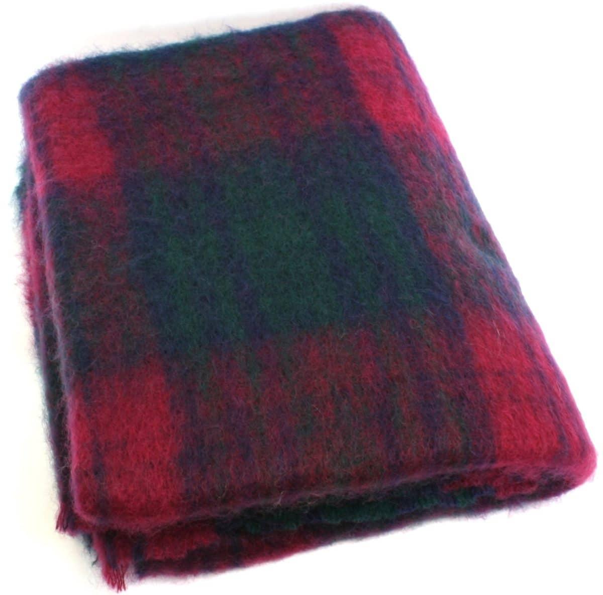 Mohair Blanket - Red Green