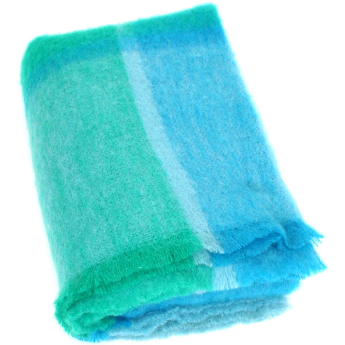Mohair Blanket - Turquoise