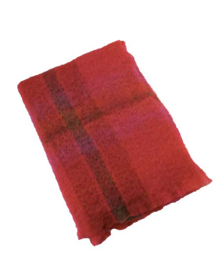 Snugrugs Mohair Blanket Berry red