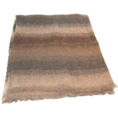 Mohair Blanket - Tan Stripe