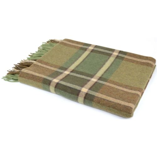 Lambswool Blanket / Throw - Forest Green