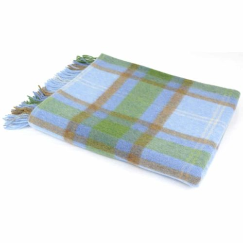 Lambswool Blanket / Throw - Cornflower Blue