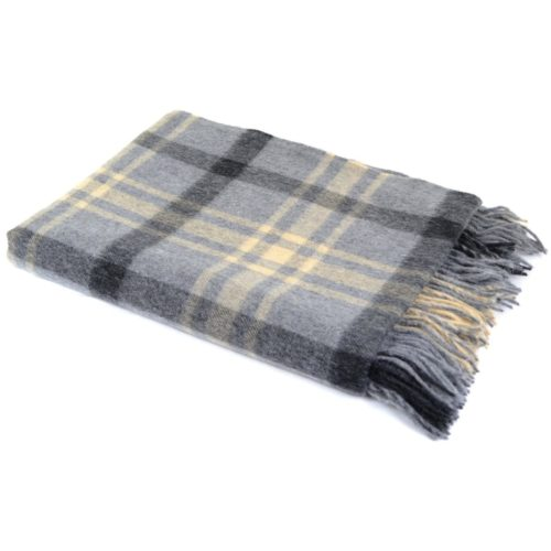 Lambswool Blanket / Throw - Slate Grey