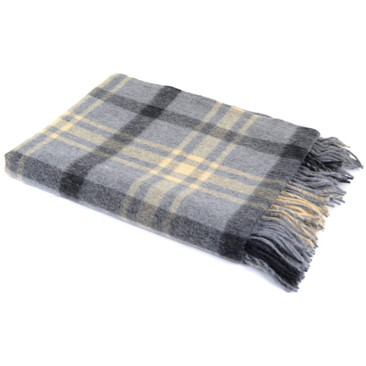 Lambswool Blanket / Throw - Slate Grey