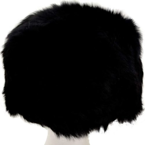 Fern - Ladies Full Sheepskin Hat - Black (Top)