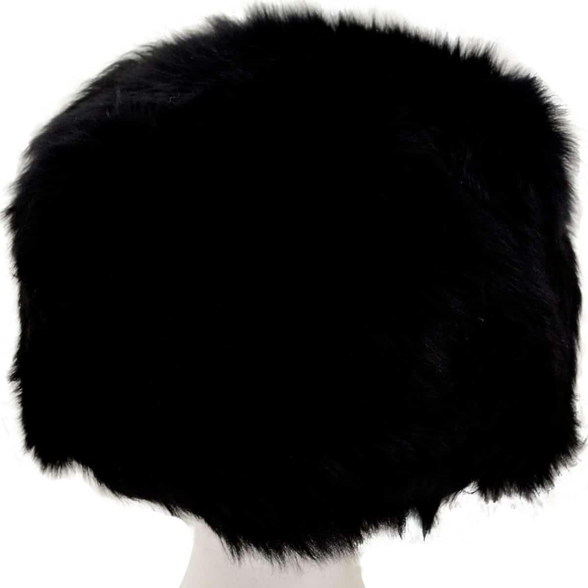 Fern - Ladies Full Sheepskin Hat - Black (Top)