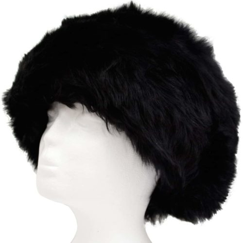 Fern - Ladies Full Sheepskin Hat - Black