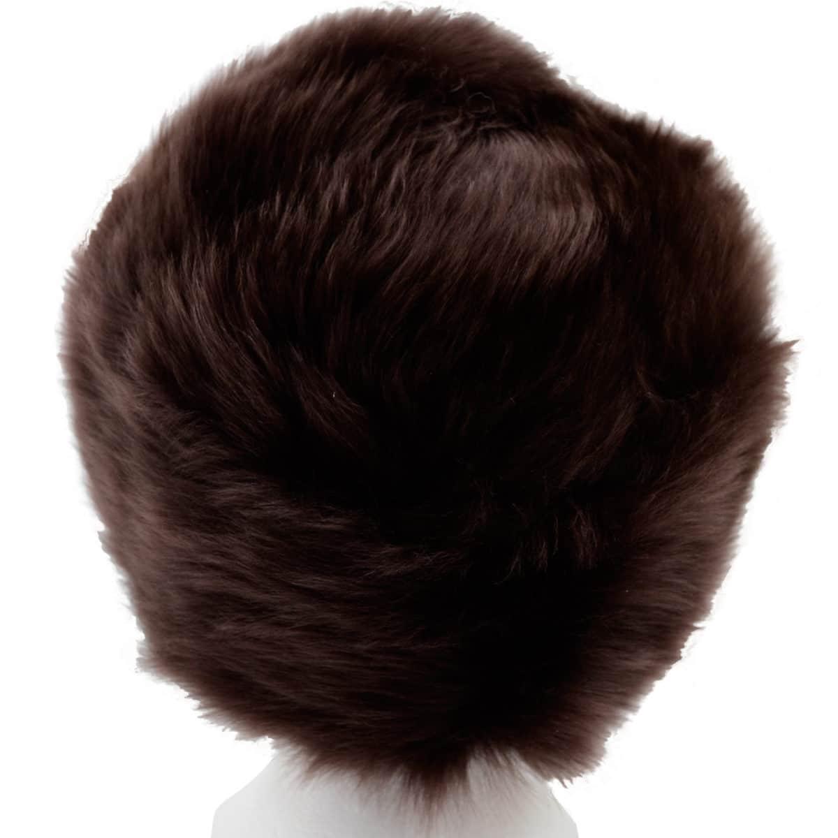 Fern - Ladies Full Sheepskin Hat - Brown (Top)