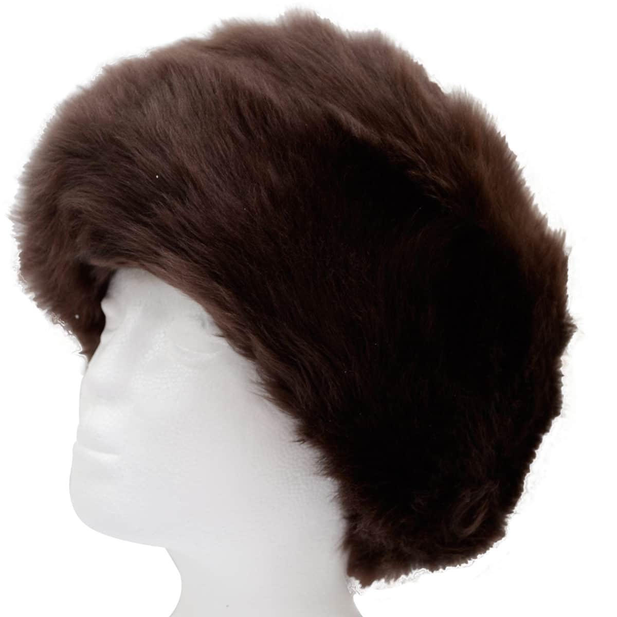 Fern - Ladies Full Sheepskin Hat - Brown