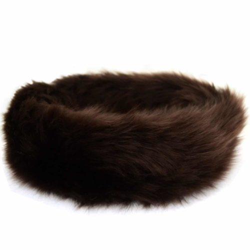 Alexi - Ladies Long Sheepskin Ski Headband - Brown 4e1ae6005ae