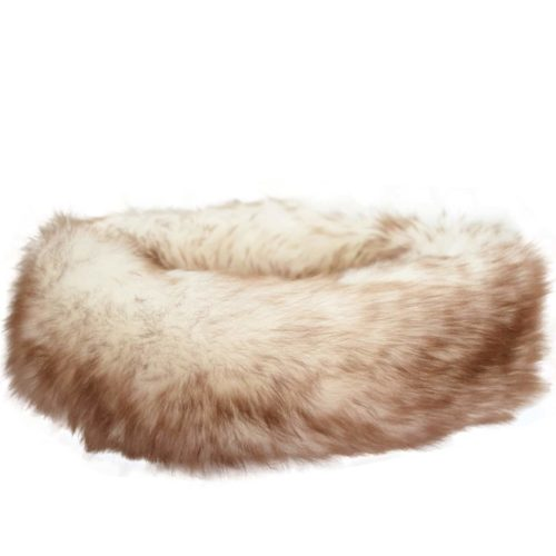 Alexi - Ladies Long Sheepskin Ski Headband - Natural Tipped