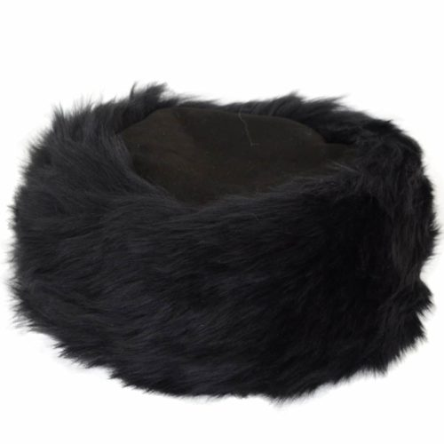 Brigit - Ladies Full Sheepskin Cossack Style Hat - Black