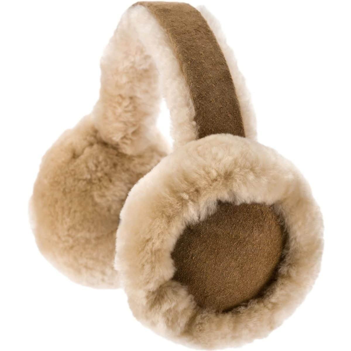 Full Sheepskin Earmuffs - Chestnut