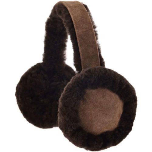 Full Sheepskin Earmuffs - Brown