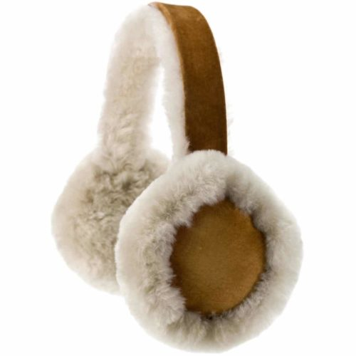 Full Sheepskin Earmuffs - Tan