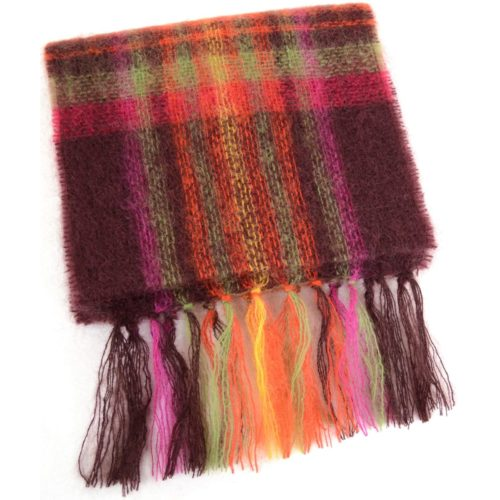 Mohair Scarf - Pink & Purple