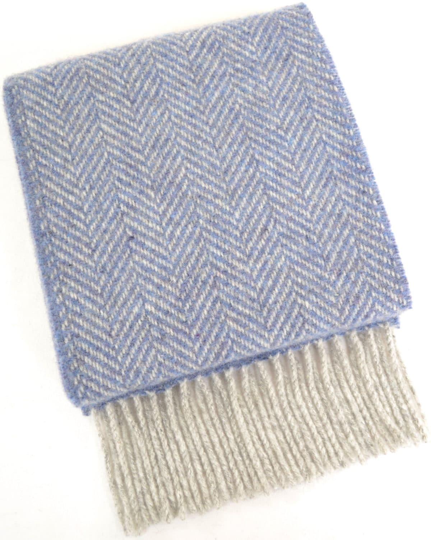 Merino Cashmere Scarf - Light Blue