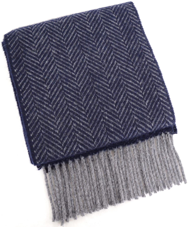 Merino Cashmere Scarf - Navy Blue