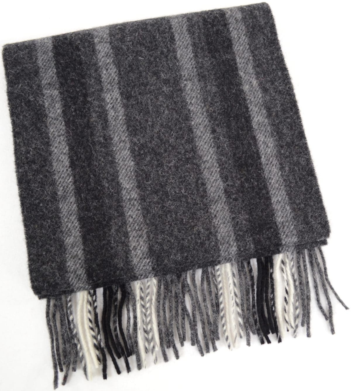 Extra Long Lambswool Scarf - Greys