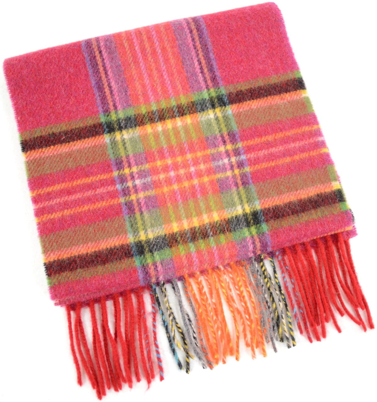 Extra Long Lambswool Scarf – Pink