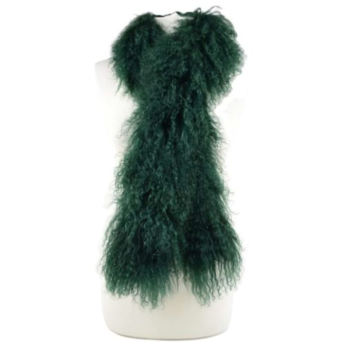 Snugrugs Mongolian Sheepskin Scarf – Green