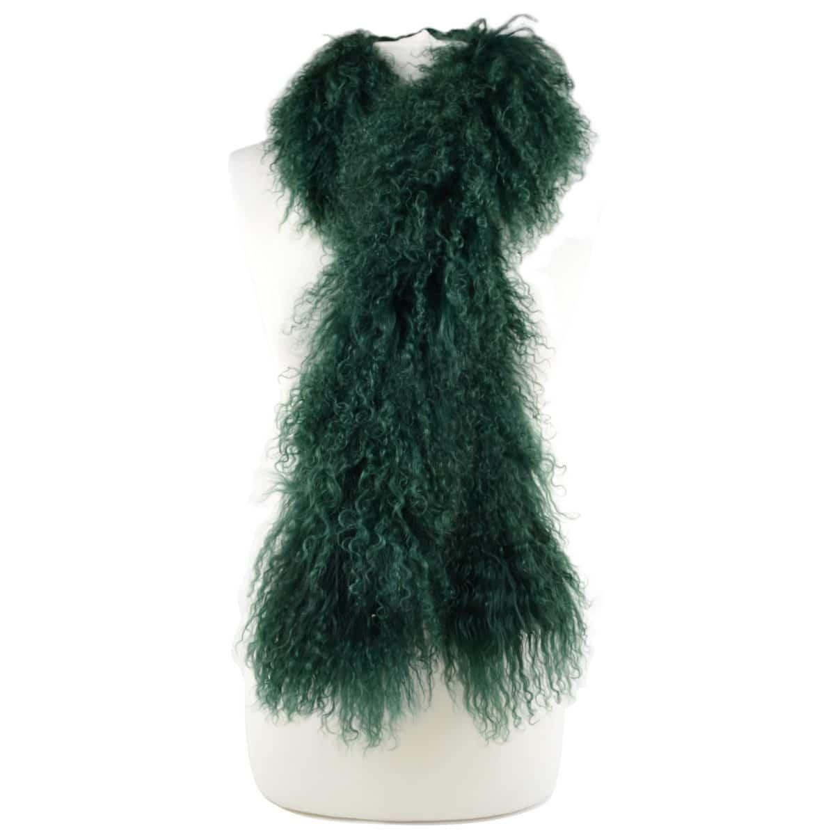 Snugrugs Mongolian Sheepskin Scarf – Green