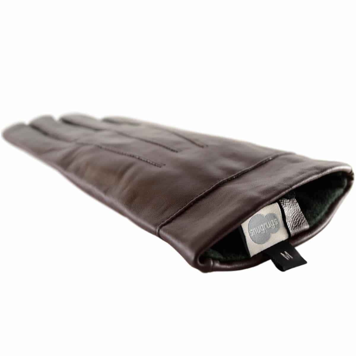Mavis - Leather Gloves Three Point Stitch - Brown