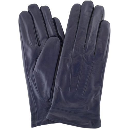 Mavis - Leather Gloves Three Point Stitch - Navy