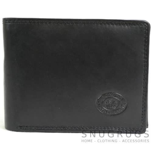 Soft Leather Tri-Fold Wallet - Black