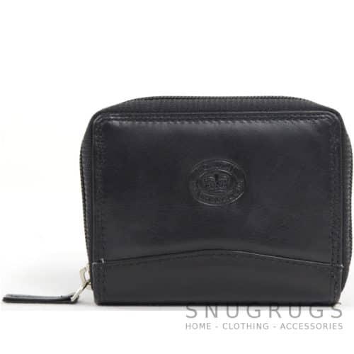Soft Leather Concertina Credit Card / Travel Card Holder - Black