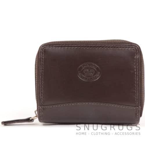 Soft Leather Concertina Credit Card / Travel Card Holder - Dark Brown