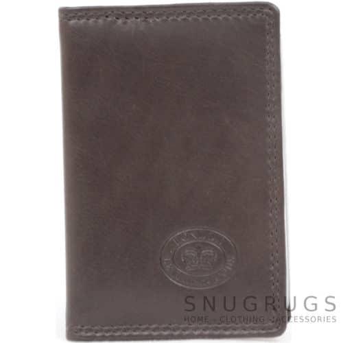 Soft Leather Credit Card / Travel Card Holder - Dark Brown