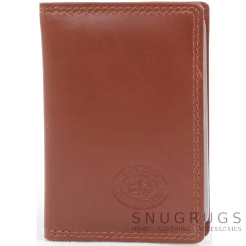 Soft Leather Credit Card / Travel Card Holder - Mid Brown