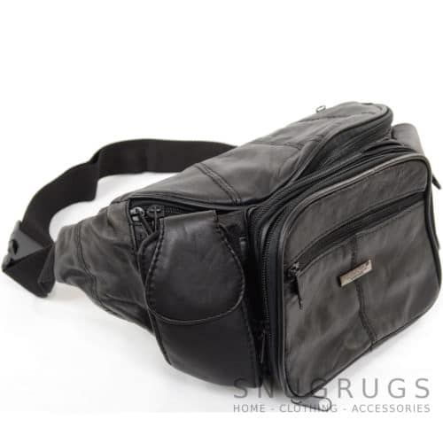 Extra Large Soft Nappa Leather Bum Bag / Waist Bag