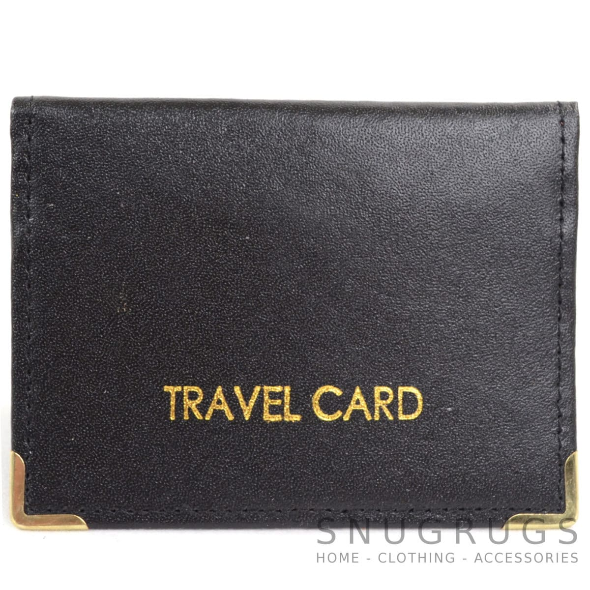 Leather Travel Card / ID / Credit Card Holder - Black