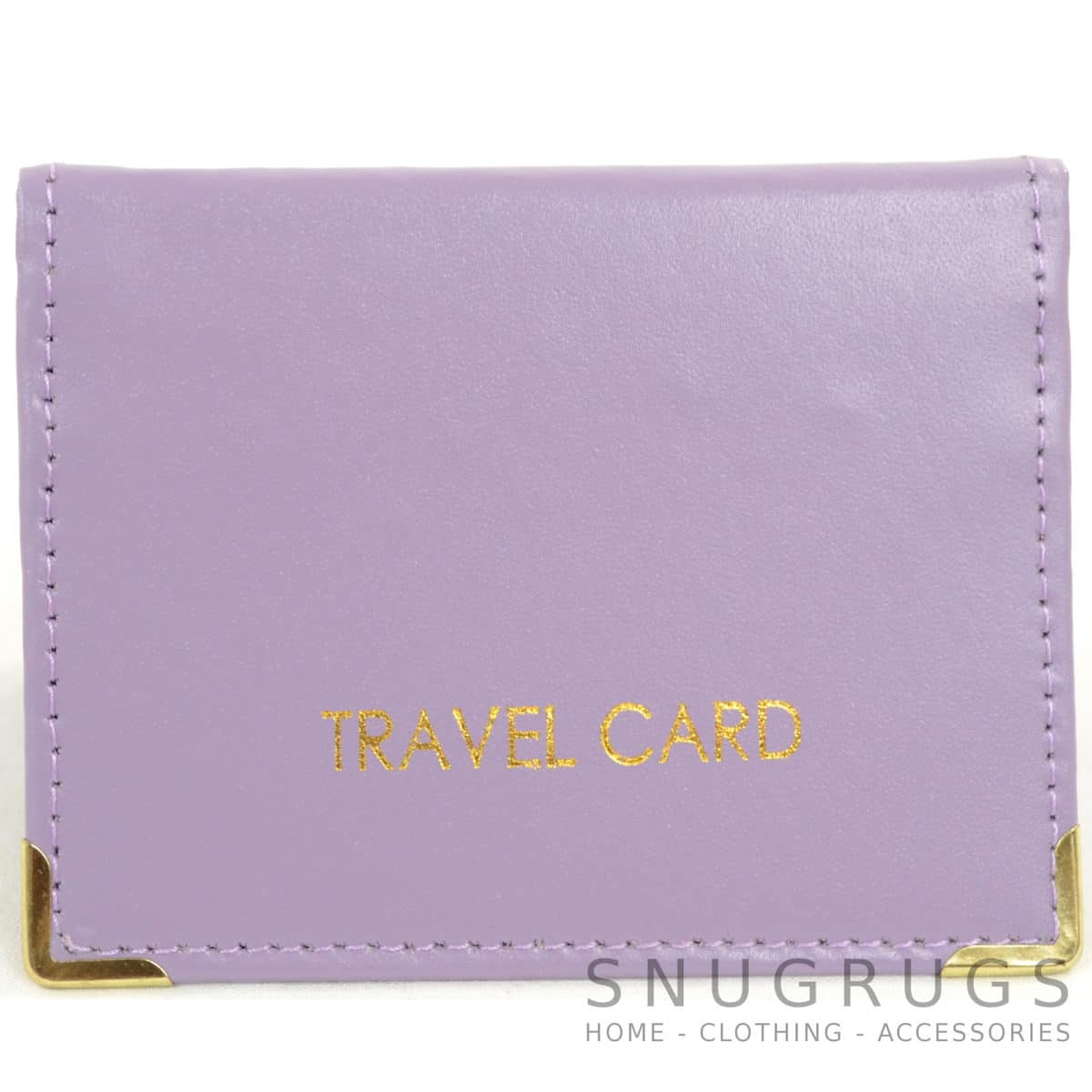 Leather Travel Card / ID / Credit Card Holder - Lilac