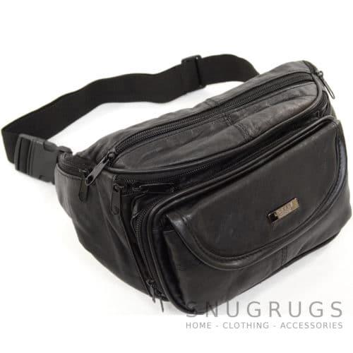 Large Soft Nappa Leather Bum Bag / Waist Bag