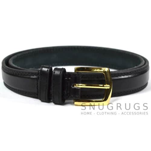 "Leather Lined 1"" Milano Suit Belt - Black"