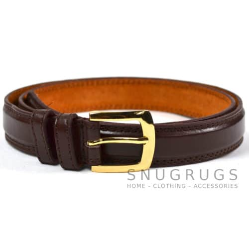 "Leather Lined 1"" Milano Suit Belt - Brown"
