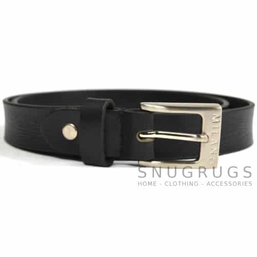 "Full Leather 1"" Milano Belt - Black"
