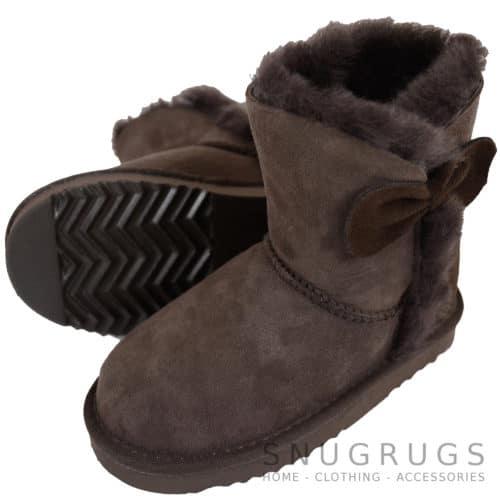 Zara - Kids Sheepskin Boots - Chocolate Brown