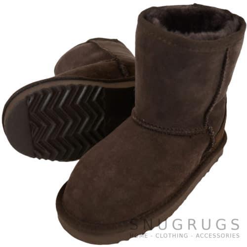 Pixie - Kids Sheepskin Boot - Chocolate Brown